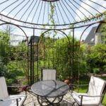 Gartenpavillon Milano mit Rankgitter Edera (durch Kunden hinzugefügt), unbeschichtet (Edelrost)