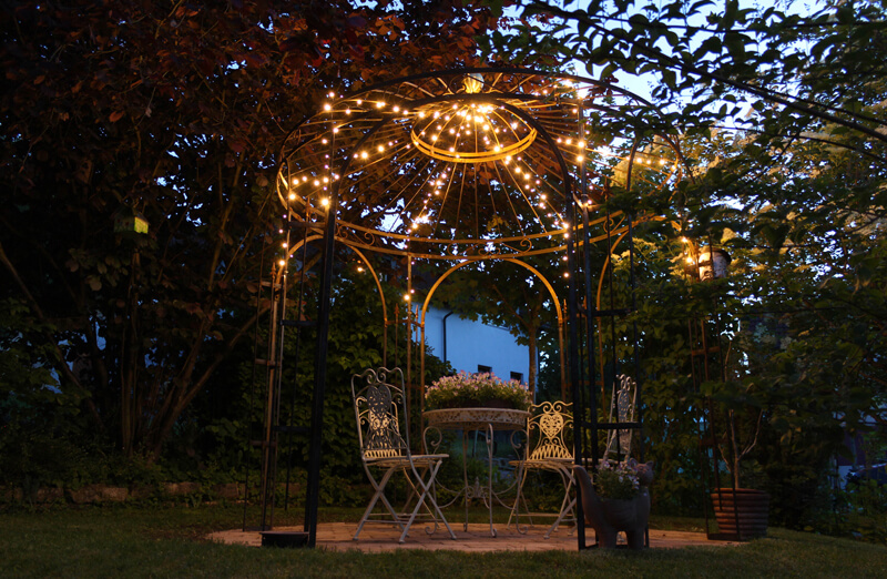 Beleuchtung Terrasse Pavillon